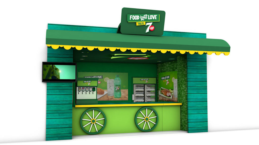 3D Shop Modelling for 7up