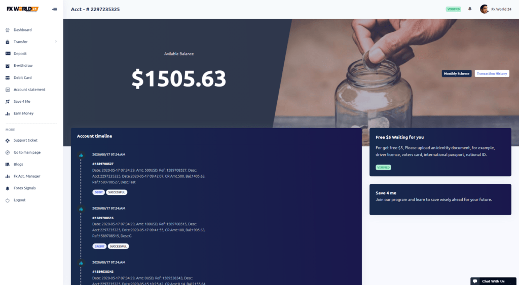 Fx World 24 WP Front Page & PHP Laravel Banking System