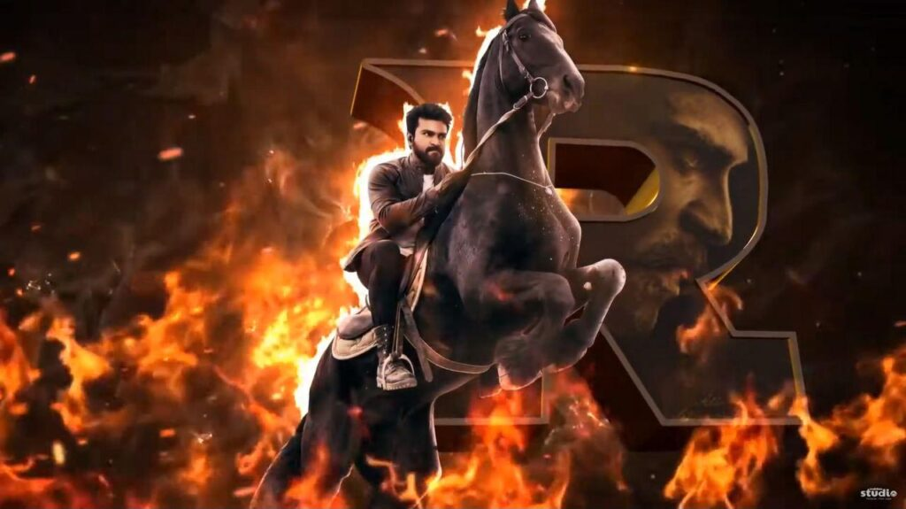 RRR Motion Poster Ram Charan After Effect