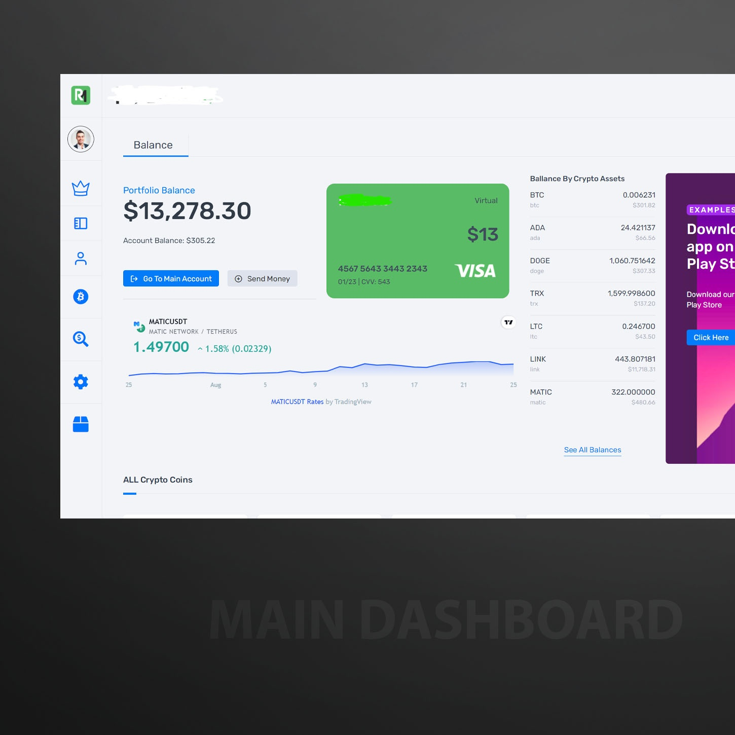 Cryptocurrency Web Application