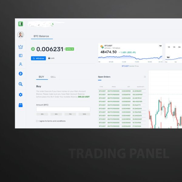 Powerful binance connected full crypto trading platform